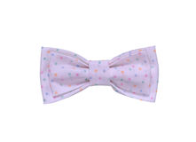 Handmade Colorful Bow Tie with Dots and Spots Isolated On White Background. Red, Green, Blue, Yellow, Magenta, Purple, Violet Colo Stock Photos