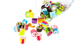 Handmade colorful candies. On white background Stock Image