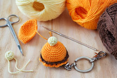 Handmade colorful crochet toys sweets Stock Image
