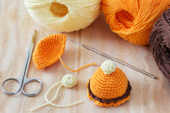 Handmade colorful crochet toys sweets Royalty Free Stock Image