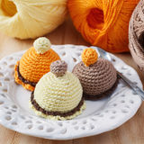 Handmade colorful crochet toys sweets Stock Photo