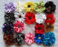 Handmade colorful flowers - band for girls, Lithuania Stock Photos