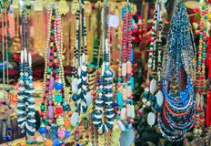 Handmade colorful jewelry for sale. Indian style colorful Jewelry for sale royalty free stock photography