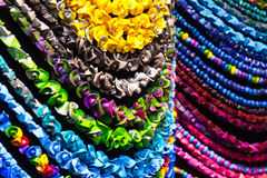 Handmade colorful necklaces Royalty Free Stock Photos