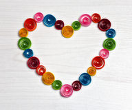 Handmade colorful paper heart Stock Photography