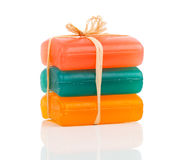 Handmade colorful soap bars Royalty Free Stock Image