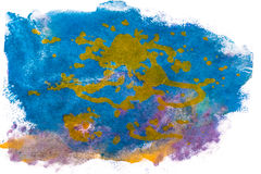 Handmade colorful watercolor abstract blot Stock Photo