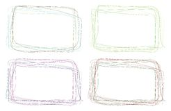 Handmade colour frames Royalty Free Stock Photo