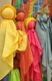 Handmade coloured puppet Stock Photos
