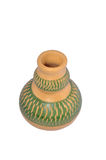 Handmade Colourfeul Clay Pottery. This pottery made from clay. Its can store water of can be use as a flower pot. Its hand crafted Royalty Free Stock Photos