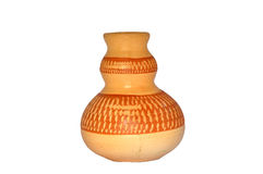 Handmade Colourfeul Clay Pottery. This pottery made from clay. Its can store water of can be use as a flower pot. Its hand crafted Stock Image