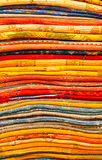 Handmade colourful rugs in vibrant tones for sale in medina souke. Handmade by berber woman colourful rugs in vibrant tones for sale in medina souke Stock Photos
