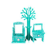 Handmade console mirror decorated. Stock Images