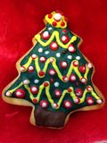 Handmade cookie of Christmas tree Royalty Free Stock Images