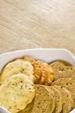 Handmade cookies. Selection of cookies in a bowl on table Royalty Free Stock Photography