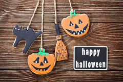 Handmade cookies for Halloween Stock Images