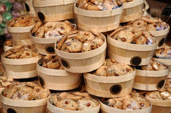 Handmade cookies packaged as a gift for holidays Stock Photography
