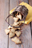 Handmade cookies for Valentine's day Royalty Free Stock Photos