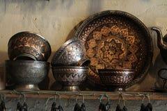 Handmade copperware стоковое изображение rf