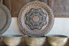 Handmade copperware стоковые изображения rf