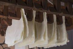 Handmade cotton paper Royalty Free Stock Photos