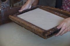 Handmade cotton paper Royalty Free Stock Image