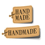 Handmade. Coupons illustration on white Royalty Free Stock Photography
