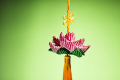 Handmade crafts lotus Royalty Free Stock Photo