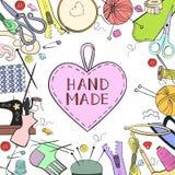 Handmade poster. royalty free illustration
