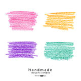 Handmade crayons stripes set Royalty Free Stock Photos