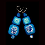 Handmade creative ear-rings Royalty Free Stock Photos