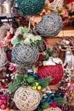 Handmade cristmas balls Royalty Free Stock Image