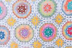 Handmade crochet fabric pattern Royalty Free Stock Image