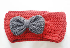Handmade crochet scarf Stock Images
