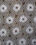 Handmade crochet tablecloth pattern Royalty Free Stock Photos