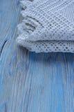 Handmade crocheted cotton organic blanket Stock Image