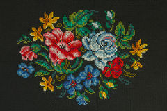 Handmade cross-stitch Royalty Free Stock Image