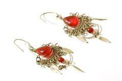 Handmade Crystal Earrings Royalty Free Stock Image