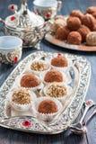 handmade cukierków płatki, jagła, wysuszone owoc i dokrętki, Obrazy Royalty Free