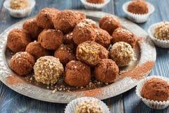handmade cukierków płatki, jagła, wysuszone owoc i dokrętki, Fotografia Royalty Free