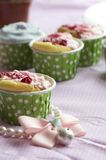 Handmade cup cake Royalty Free Stock Images