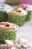 Handmade cup cake. Handmade colorful cup cakes shot in a closeup scene Royalty Free Stock Images