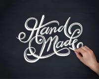 Handmade cursive font vector Stock Image