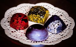 Handmade czekoladowi candys Fotografia Royalty Free