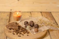 Handmade czekoladowi candys Zdjęcie Royalty Free