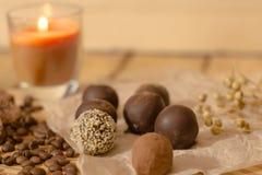 Handmade czekoladowi candys Zdjęcia Royalty Free
