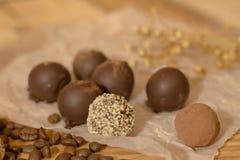 Handmade czekoladowi candys Obrazy Stock