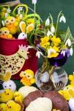 Handmade Czekoladowi Wielkanocni jajka obraz stock