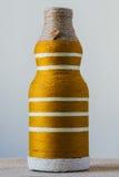Handmade decorated bottle Royalty Free Stock Photo