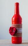 Handmade decorated bottle Stock Photography